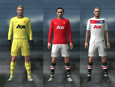 MANCHESTER UNITED Nuevos Kits 2011/2012 | DESCARGAR PARCHE PES 2013 
