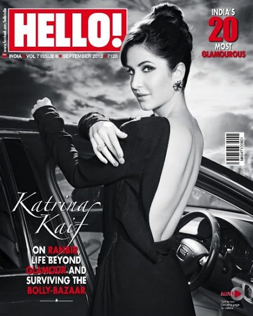 Katrina Kaif hot backless dress Hello India 2013 september