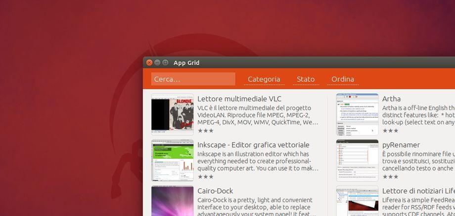App Grid in Ubuntu
