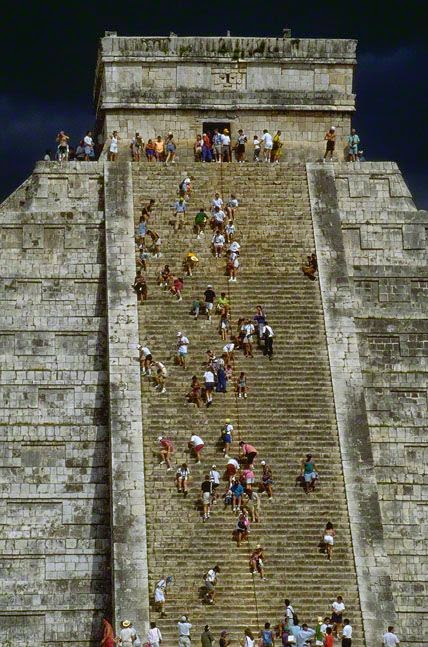 The Mayan pyramid of Kukulkan at Chichen Itza - Yucatan Peninsula, Mexico