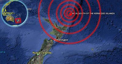 Sismo norte Nueva Zelanda 7 de Octubre de 2011