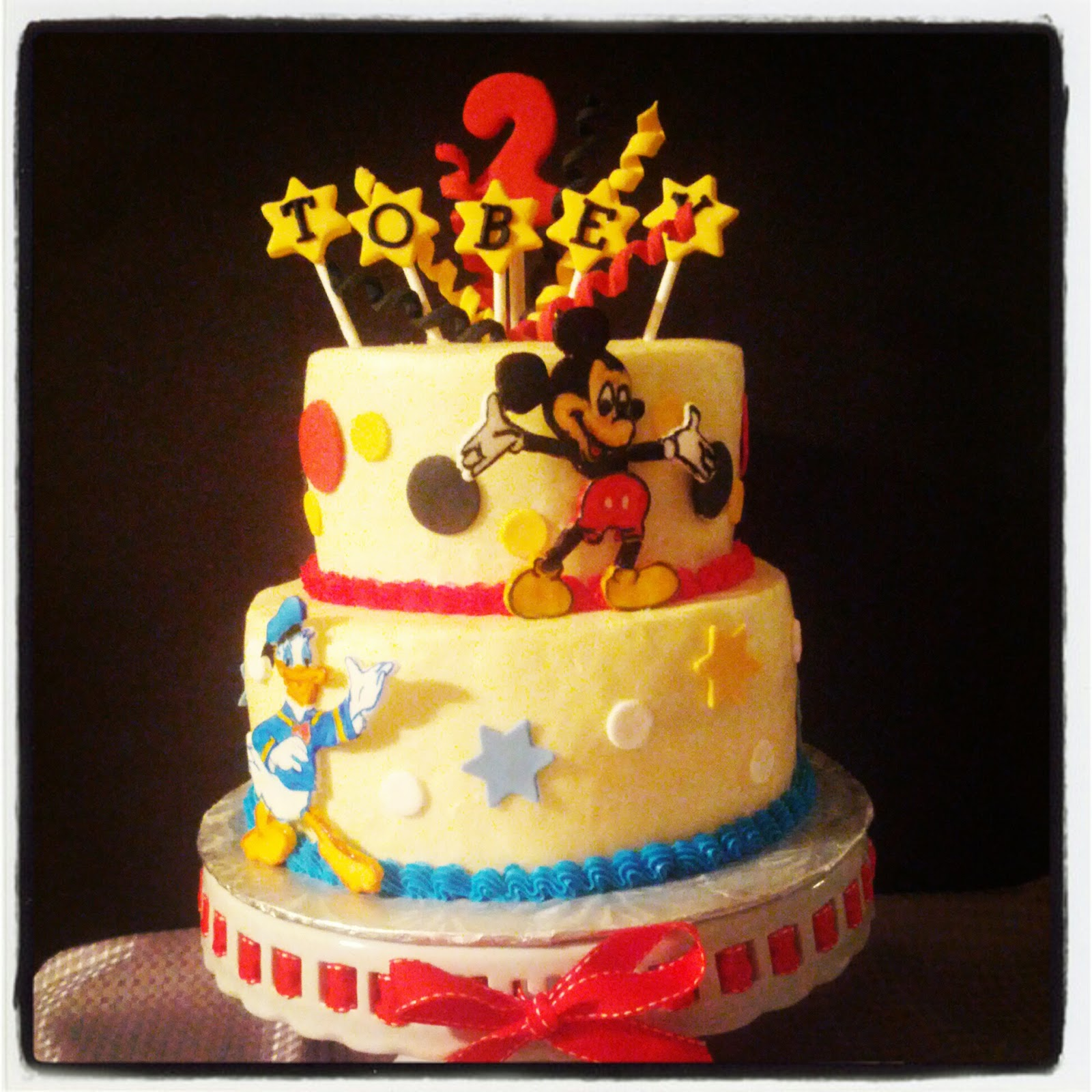 Second Generation Cake Design: Mickey Mouse & Donald Duck Birthday Cake
