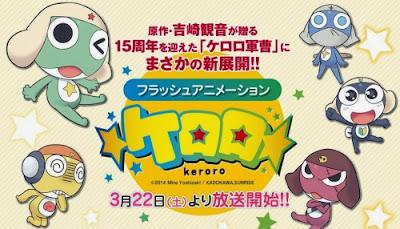 Keroro Gunsou nuevo anime estreno marzo 2014