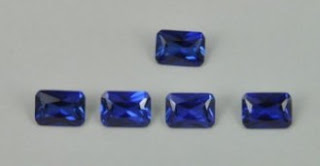 Blue Sapphire-Corundum 34# Color Stone Octagon Princess Cut