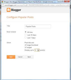 Setting Popular Posts Blogger