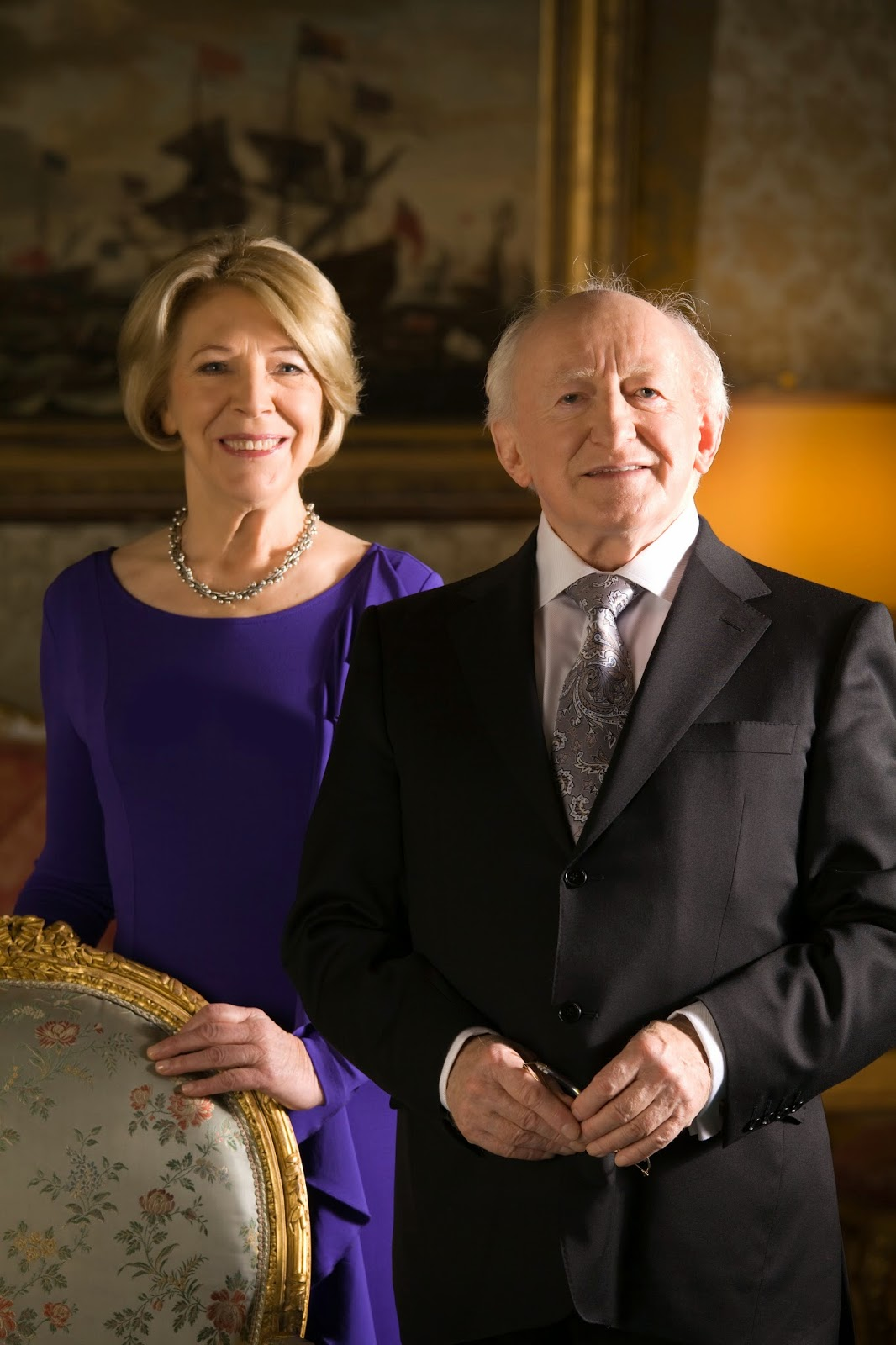 Irish President Michael D. Higgins with wife Sabina.