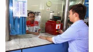 tukarkan tiket elektorik Commuter Line dengan uang di loket stasiun