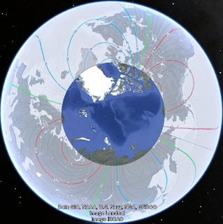 North Pole Magnetic Deviation