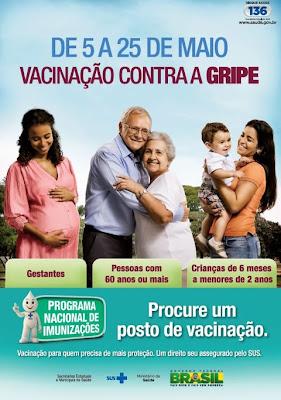 Campanha de Vacinação contra a Gripe em Iguape