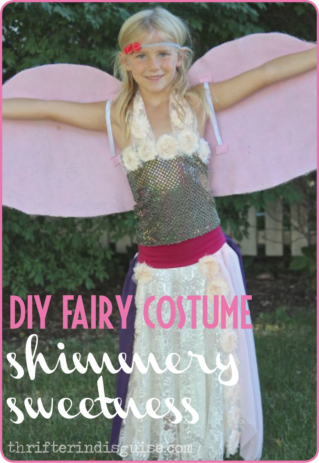 DIY Fairy Dress Ideas  sc 1 st  A Thrifter in Disguise & A Thrifter in Disguise: DIY Fairy Costume Part 2: Shimmery Top
