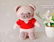 Crochet Pig Doll: ตุ๊กตา ถัก โครเชต์ หมูน้อย น่ารัก