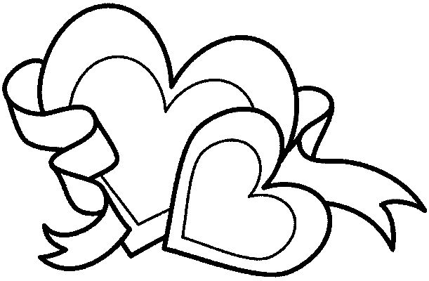 valentine heart printable coloring pages - photo#21