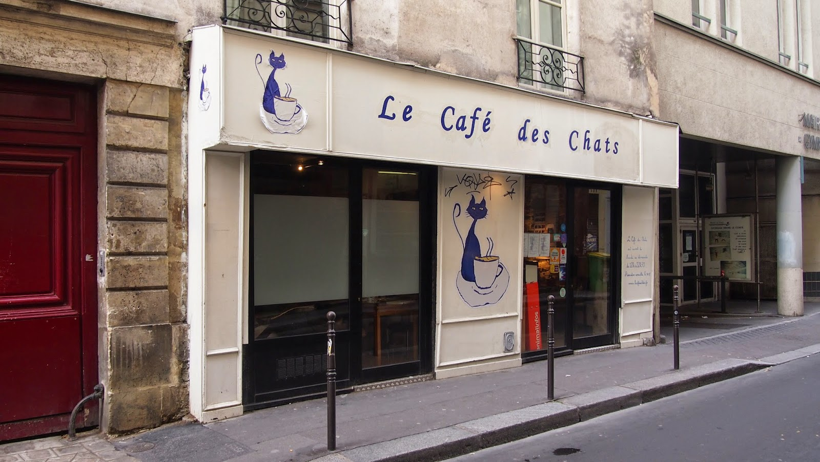 パリ猫カフェ外観の写真