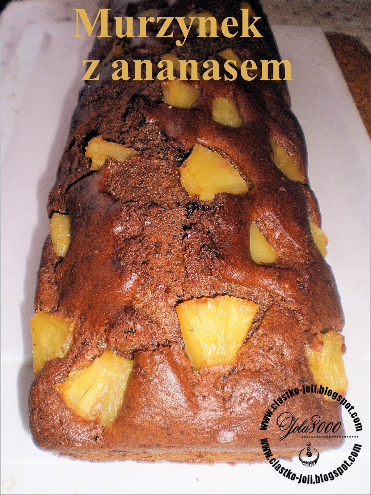 Murzynek z ananasem i kremem czekoladowym