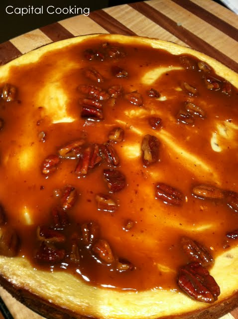 ... : Recipe: Banana Rum Cheesecake topped with a Caramel Rum Sauce