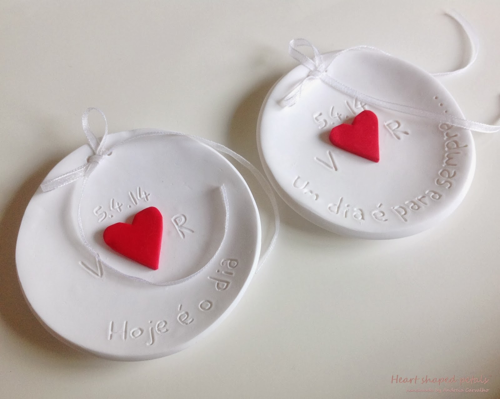 Ring bearer dishes bride groom initials