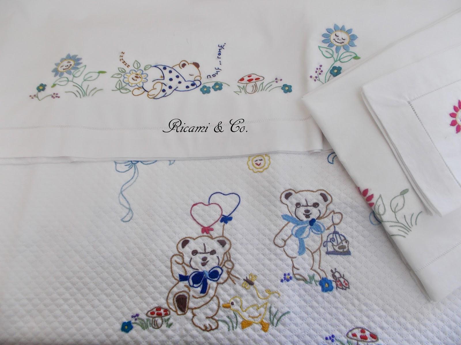 Orsetti per accompagnare i sogni ricami co for Ricami a punto croce per neonati