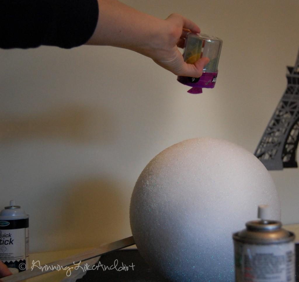 How to make a snowman christmas tree topper - And With The Dowel Rod In Place You Can Handle The Ball A Lot Easier