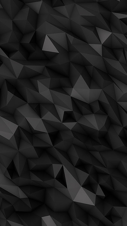 3D Dark Abstract Polygons   Galaxy Note HD Wallpaper