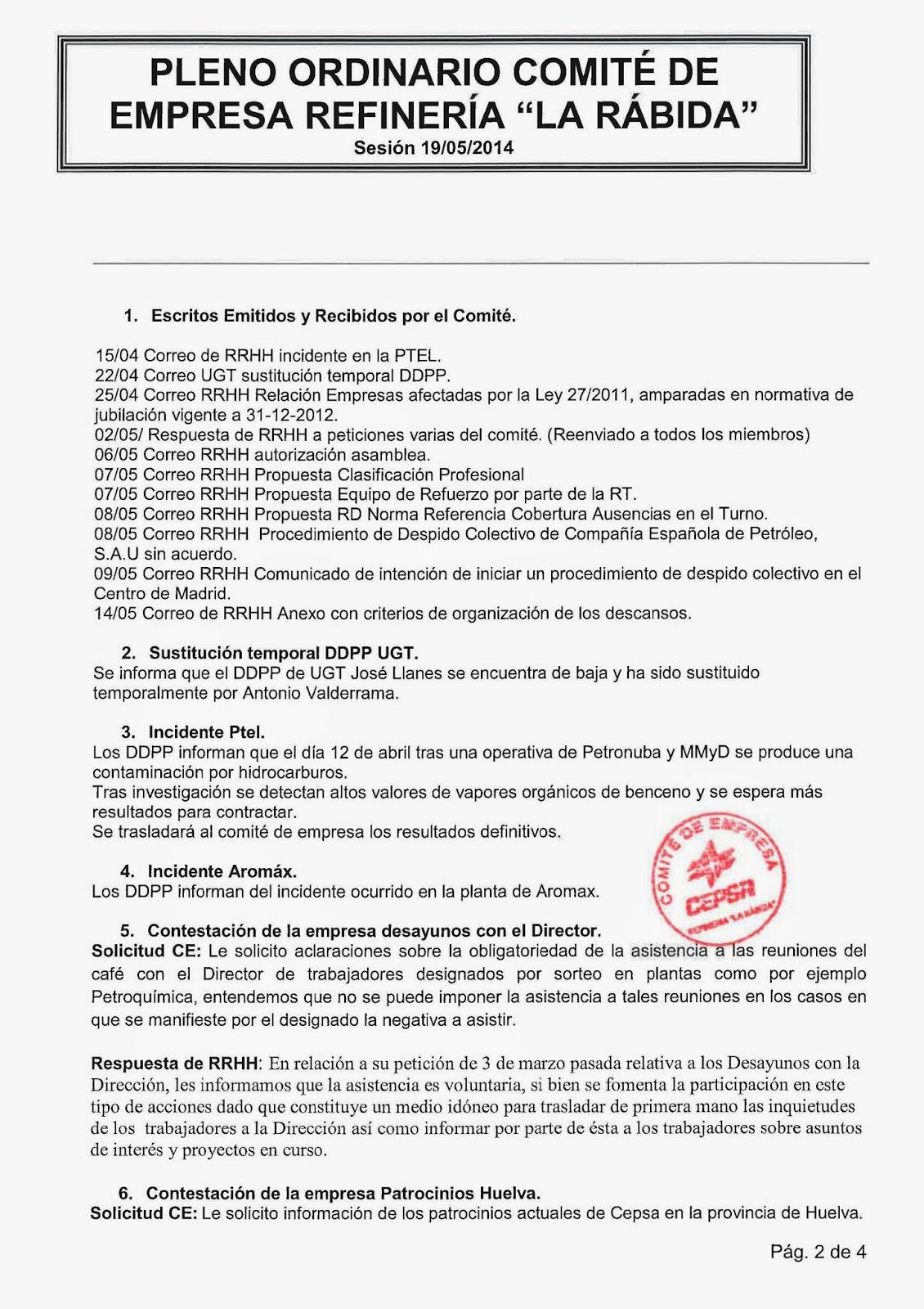 La Antorcha UGT-RLR: 2014