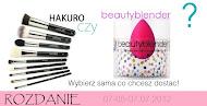 rozdanie pędzle hakuro / beautyblender