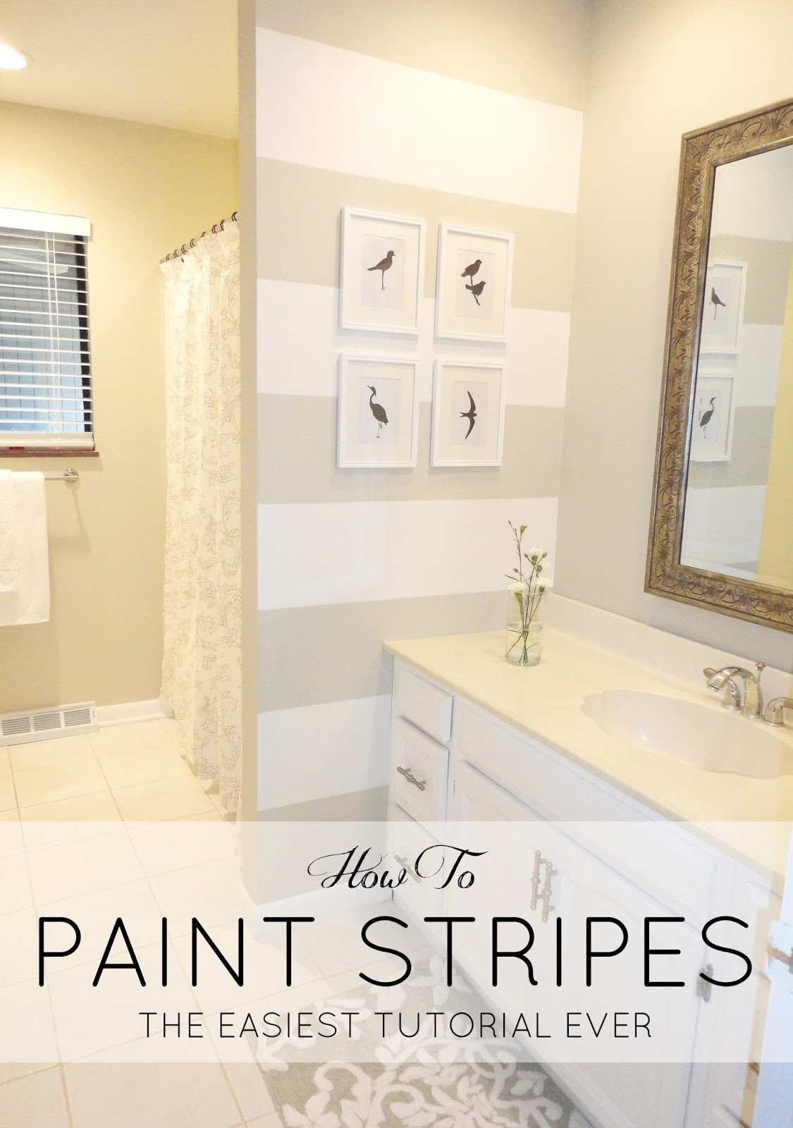 Livelovediy how to paint stripes the easiest tutorial ever Bathroom wall paint designs