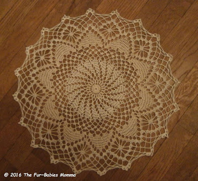 Diamond Point Doily CAL