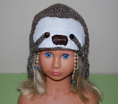 Crochet Sloth hat