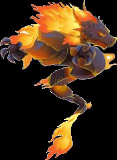 imagen del dragon en llamas adulto