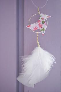 origami cocotte tissu bijoux colliler attrape rêves vanessa lekpa evanescentes creations bijoux fait mains poétiques