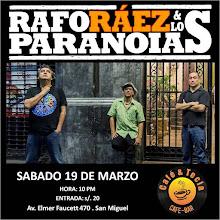 Rafo Ráez & Los Paranoias en Café Tecla Bar