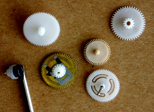 various paired clock gears