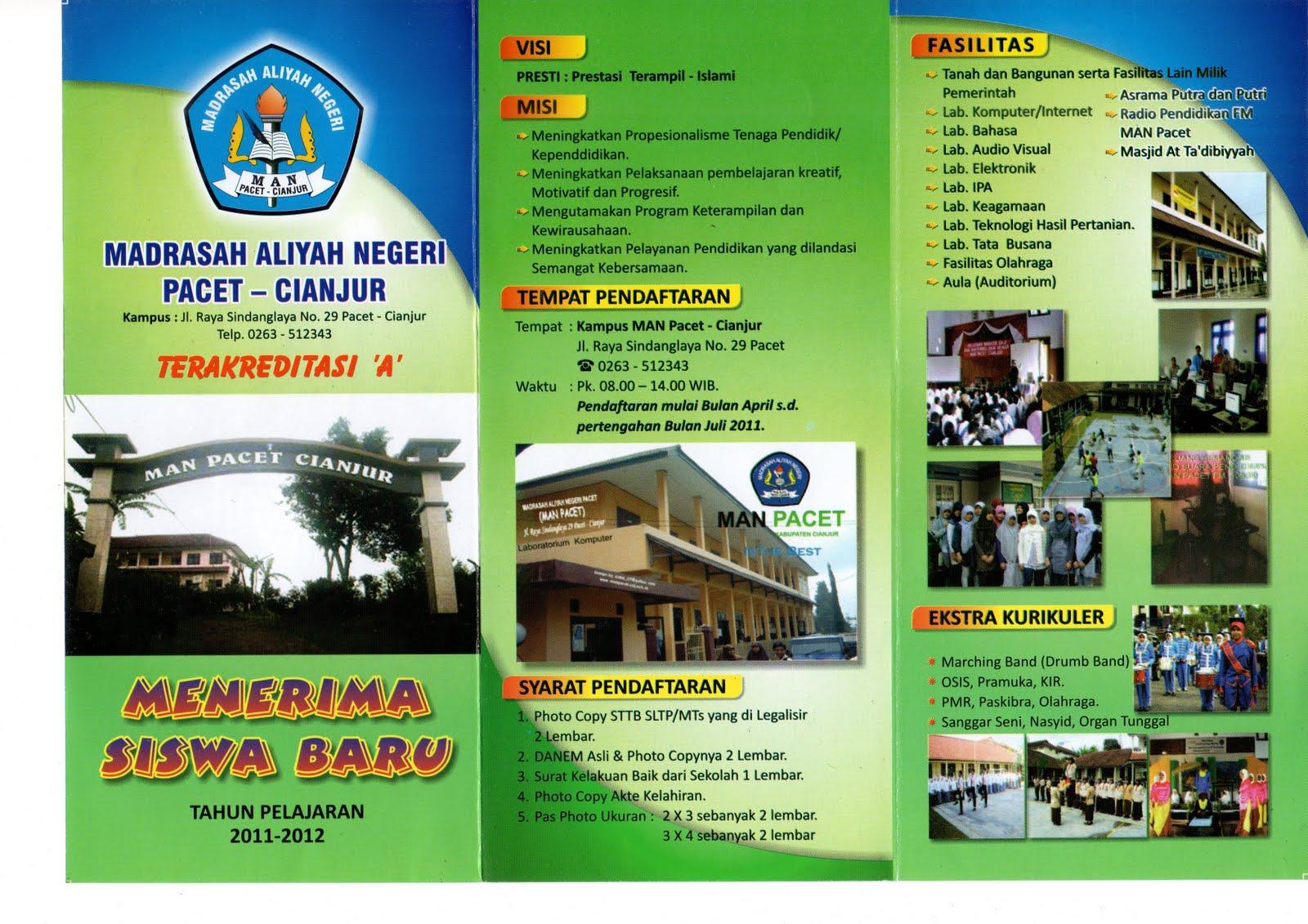 PENERIMAAN SISWA BARU UNTUK TAHUN PELAJARAN 2011-2012, MADRASAH ALIYAH