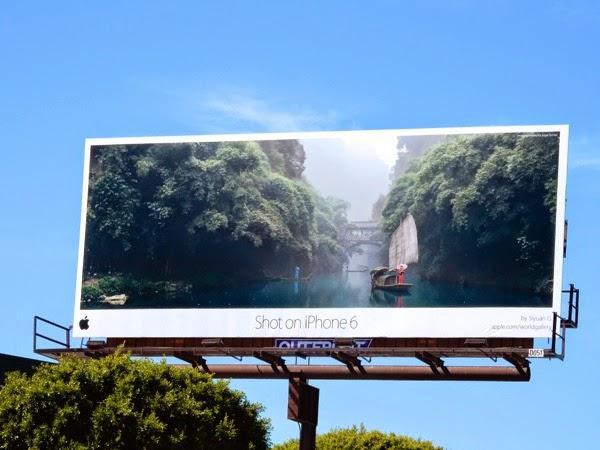 Shot on iPhone 6 China billboard