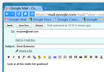 Mailto Compose Window