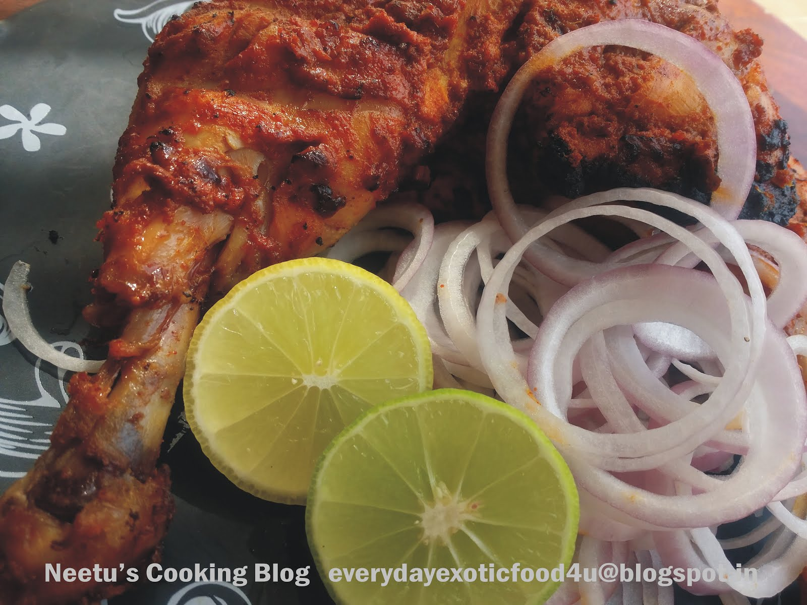 Tandoori Chicken on Gas Tandoor