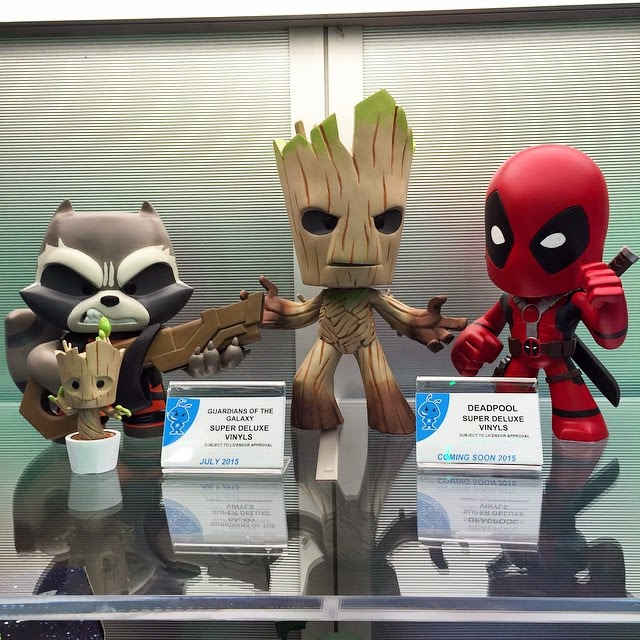 Toy Fair 2015 1st Look: Marvel Super Deluxe Vinyl Figures by Vinyl Sugar & Funko - Rocket Raccoon, Groot & Deadpool