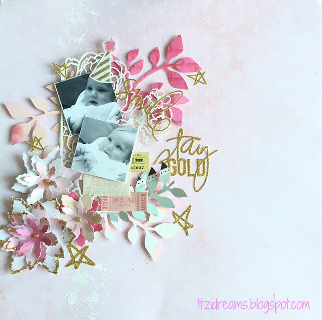 Itzidreams, Itzi Dreams, Clean and Simple, Lay Out, Scrapbooking, Scrap, Scrapbook, Webster's Pages