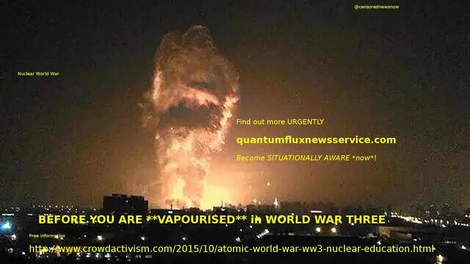 URGENT - Decide! SURVIVE WW3!