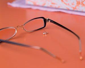 post earrings as emergency eyeglass the beading
