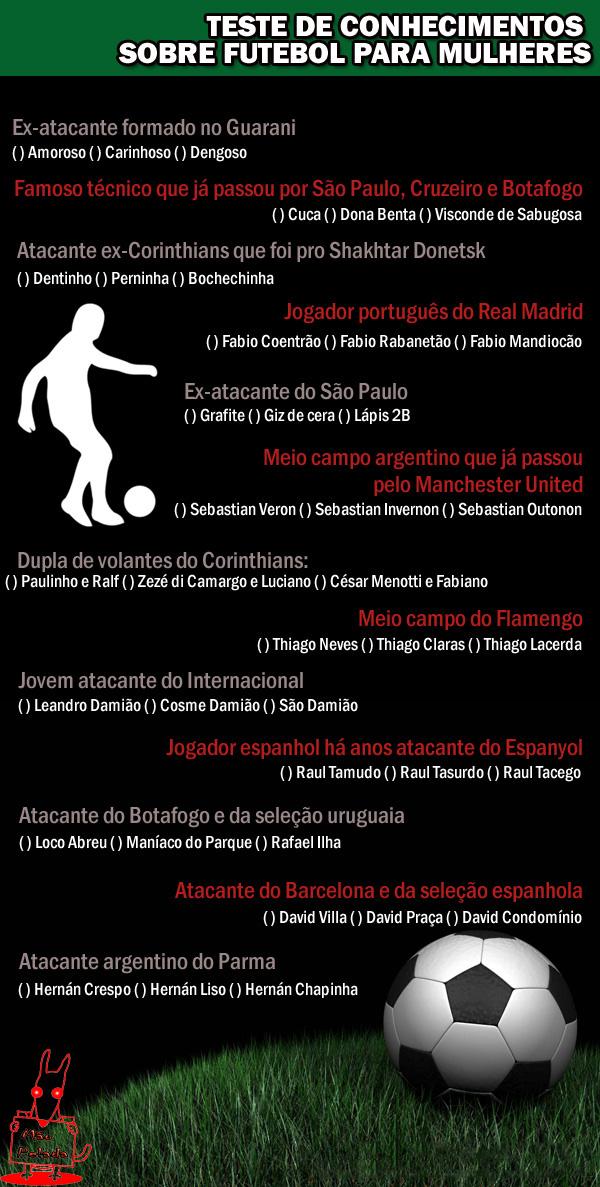 meme Teste De Futebol Para Mulheres