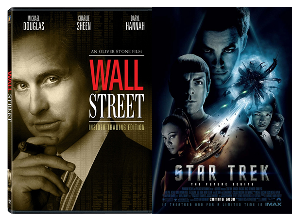 Wall Street and Star Trek movie posters