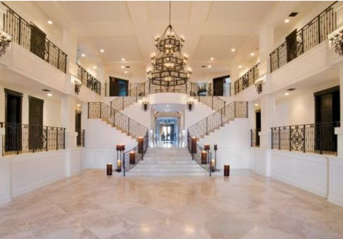 interior of bryan williams birdman old mansion in miami beach