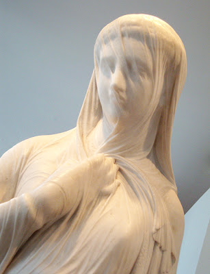 "Marble Sculpture, High Museum of Art ""The Veiled Rebekah"""
