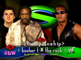 WWF SummerSlam 2001 Booker T Shane McMahon vs Rock WCW Championship Main Event