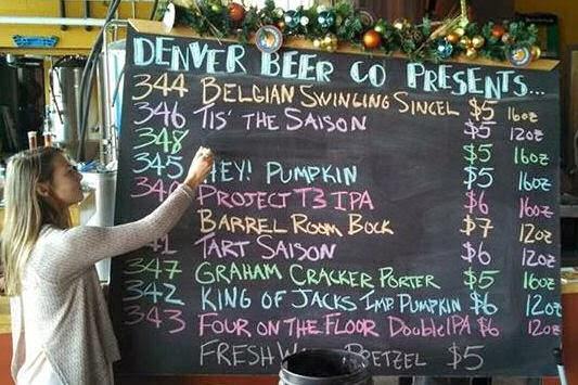 Denver Beer Company taplist