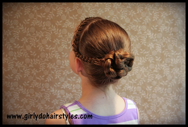 hairstyles for heart shaped face : Girly Do Hairstyles: By Jenn: Katies Dance: Braids and Bun Style