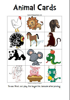 print animal cards, free download