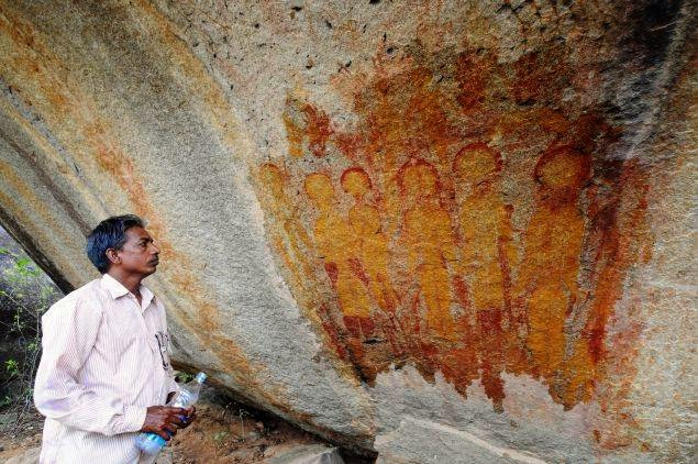 alien paintings found in indian cave ner chhatisgarh