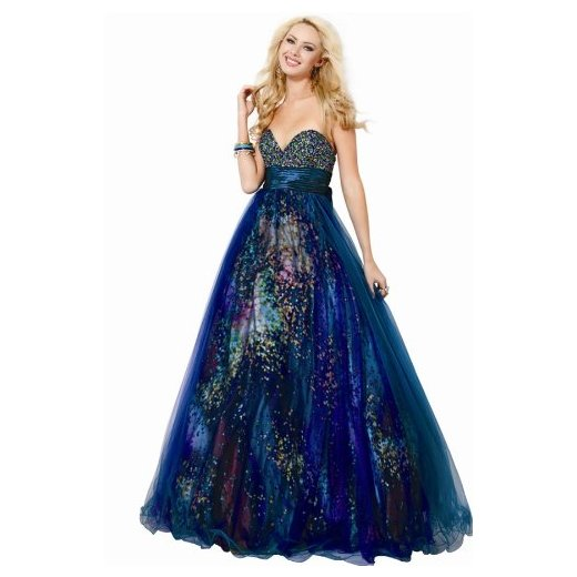 Jovani 8935, Sheer Ball Gown Sprinkled With Glitter